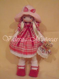 Linda muñecas de tela