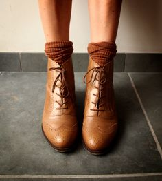 Oxford ankle boots. Too cute!!