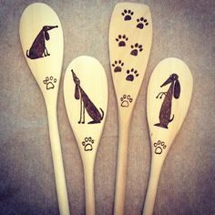 Woodburned spoons - dogs | Flickr - Photo Sharing!