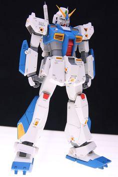 HGUC ALEX Customized Build by A very clean and detailed build. Sci Fi Models, Astro Boy, Gundam Art, Gunpla Custom, Mechanical Design, Custom Action Figures, Gundam Model, Mobile Suit, Plastic Models