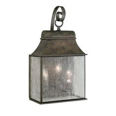 3 Light Lantern World Imports Wall Mount Fixture | WI61313-06. 2 for front  sc 1 st  Pinterest & Homesteader Seeded Glass Outdoor Wall Lantern | Pinterest | Outdoor ...