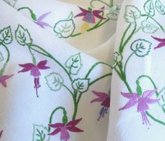Vintage Hand Embroidered Linen Tablecloth by TheWhistlingMan, £16.00