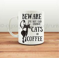 Cat Lover's Mug  Cat Mug  Cat Cup  Animal by GypsyJunkClothing