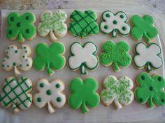 St. Patrick's Day Cookies Shamrock Cookies Green Cookies