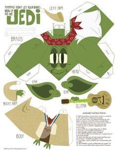 Yoda (mashup) papertoy de Matt Hawkins - Paperblog