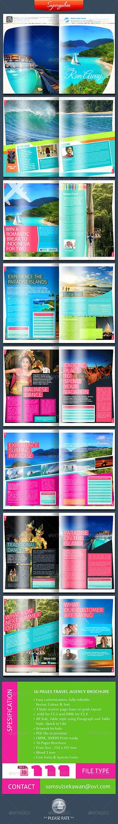 Travel Brochure By Gfxtemplate Travel Brochure Simple And Clean