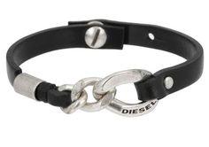 Diesel Ahic Pulsera Black pulseras y relojes pendientes complementos colgantes y collares anillos pulsera diesel black Ahic Noe.Moda