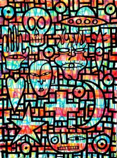 "Hidden Symbolism by Jon Stucky   $250   27""w 35""h   Original Art   https://www.arttwo50.com/buy/art/hidden-symbolism"