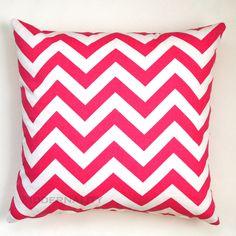 Premier Prints Candy Pink Chevron Pillow Cover- 16x16