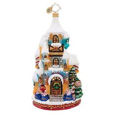 Radko Holiday Headquarters Scenes form the North Pole Ornament 2013