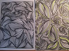 Pinturas e debuxos: Xogando cos rotuladores.