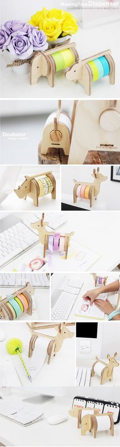 Safari tape holder by Harvard5f on Etsy so cute!!! I really like the lion and the bear :D