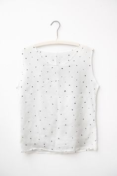 Painted Dots Silk Tee by Leah Goren