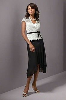 A-Linie/Princess-Linie V-Ausschnitt Asymmetrisch Chiffon Brautmutterkleider
