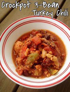 Crockpot 3-Bean Turkey Chili | @fairyburger @ fairyburger #crockpotrecipes #healthyrecipes #quickrecipes #recipes #chili #comfortfood