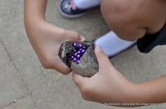 Treasure Rocks by thedomesticmama and thevillagecook: Made with leftover coffee grounds, salt, flour and water....how great for the kids!!