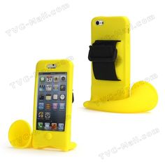Megaphone Horn Bike Bicycle Silicone Holder Case for iPhone 5 - Yellow - iPhone 5 Silicone Cases on TVC-Mall.com