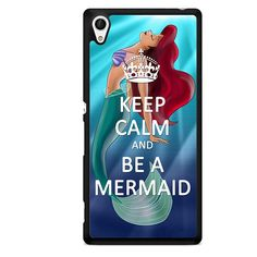 Keep Calm And Be A Mermaid TATUM-6121 Sony Phonecase Cover For Xperia Z1, Xperia Z2, Xperia Z3, Xperia Z4, Xperia Z5