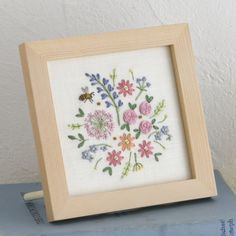 Flower embroidery by marcella Floral Embroidery Patterns, Cute Embroidery, Creative Embroidery, Embroidery Needles, Silk Ribbon Embroidery, Hand Embroidery Designs, Cross Stitch Embroidery, Flower Embroidery, Vine Drawing