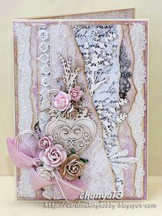 Cardmaking blog: Różowa z sercem.