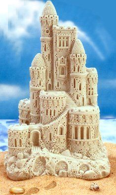 """Sandcastle Centerpiece - 11"""" Magic Castles - for focal point at center of serving table (plus bonus present for the happy couple to remember the event!)"""