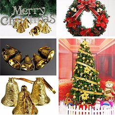 Bargain World 9pcs Christmas Hanging Jingle Bell Christmas Xmas Tree Decor ** This is an Amazon Affiliate link. Click on the image for additional details.