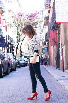 @Collage Vintage con stiletto de La Strada