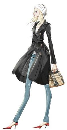(••)                                                           Fashion sketch: