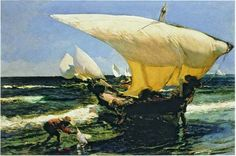 On the Coast of Valencia, 1898 Joaquin Sorolla www.passionforpaintings.com