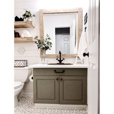 Painted Floors - - Kingston Brass Essex Two-Handle Bathroom Faucet with Brass Pop-Up and Cover Plate, Oil Rubbed Bronze. Bronze Huilé, Downstairs Bathroom, Home Depot Bathroom, Shiplap Bathroom, Bronze Bathroom, Small Bathroom Ideas, Small Vintage Bathroom, Earthy Bathroom, Grey Bathroom Cabinets