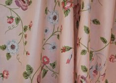 Vintage Designer Fabric / F. Schumacher & Co. / Ivy Lane Collection for Waverly / Sold By the Yard / Shabby Chic Home Decor