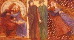 Данте Габриэль Россетти. Триптих *Паоло и Франческа да Римини*, 1855