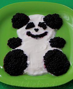 Blackberries and yogurt panda #brightidea