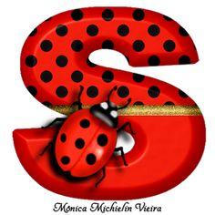 Ladybug Art, Ladybug Crafts, Alphabet Art, Alphabet And Numbers, Anime Miraculous Ladybug, Cumpleaños Lady Bug, Polka Dot Art, Polka Dots, Cute Cartoon Boy