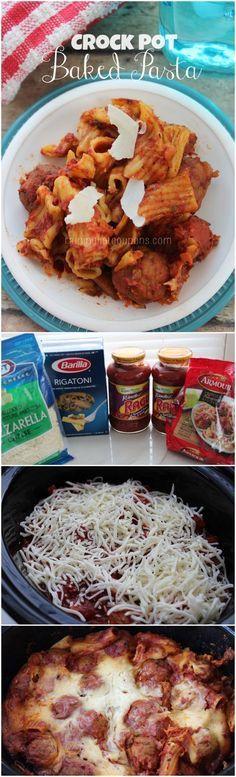 Crock Pot Baked Pasta