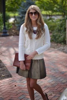 This works better for me if the skirt is a bit longer for the office but overall ~ I like it! #PersonalLeadership #Women