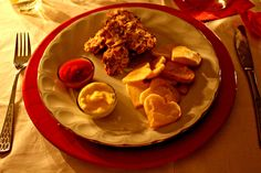 crunchy chicken with ketchuo and mayonnaise, potatoes