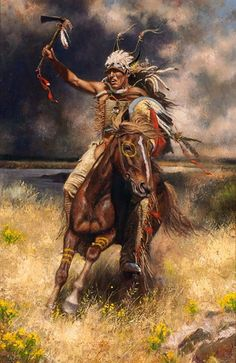Artwork by Don Oelze, Going into Battle, Made of Oil on canvas