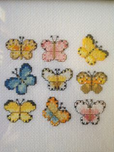 Cute Little Butterflies Cross Stitch
