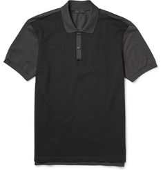 Lanvin - Two-Tone Panelled Polo Shirt | MR PORTER