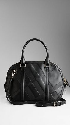 Black The Small Orchard in Embossed Check Leather Designer Bags 8f83ad26ee966