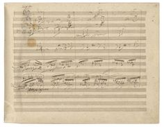 A page from Beethoven's Ninth Symphony. The manuscript sold for £2,133,000 at Sotheby's in 2007