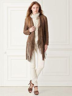 Helene Fringed Suede Jacket - Collection Apparel Jackets - RalphLauren.com
