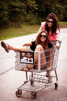 That one friend that you will steal a shopping cart off of the street............. I love that friend ☺️
