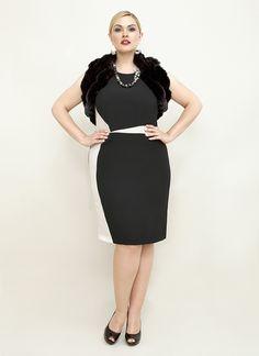 Marina Rinaldi dress, Toni Plus, plus-size