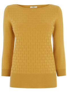 THE TEXTURED KNIT | Yellow | Oasis Stores