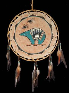 native american ~ spirit bear The drum is the heartbeat of my people.