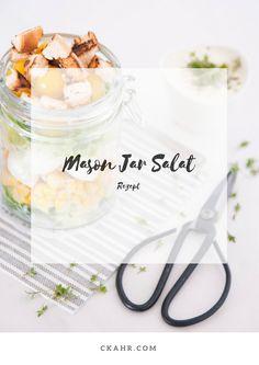Salat mit Glas - das perfekte Mittagsessen in der Arbeit. Rezept -> ckahr.com