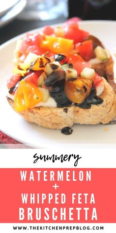 Summer Appetizer Recipes, Vegetarian Appetizers, Vegetarian Recipes Dinner, Easy Dinner Recipes, Summer Recipes, Holiday Recipes, Whipped Feta, Balsamic Glaze, My Best Recipe