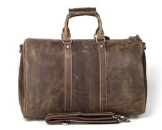 Leather Weekender / Carry On / Travel Duffle Bag - Traveler